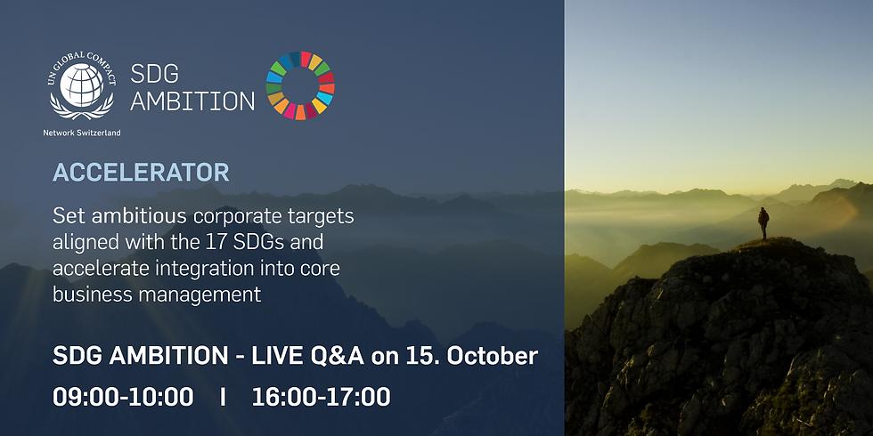 Webinar: SDG Ambition Accelerator - Live Q&A