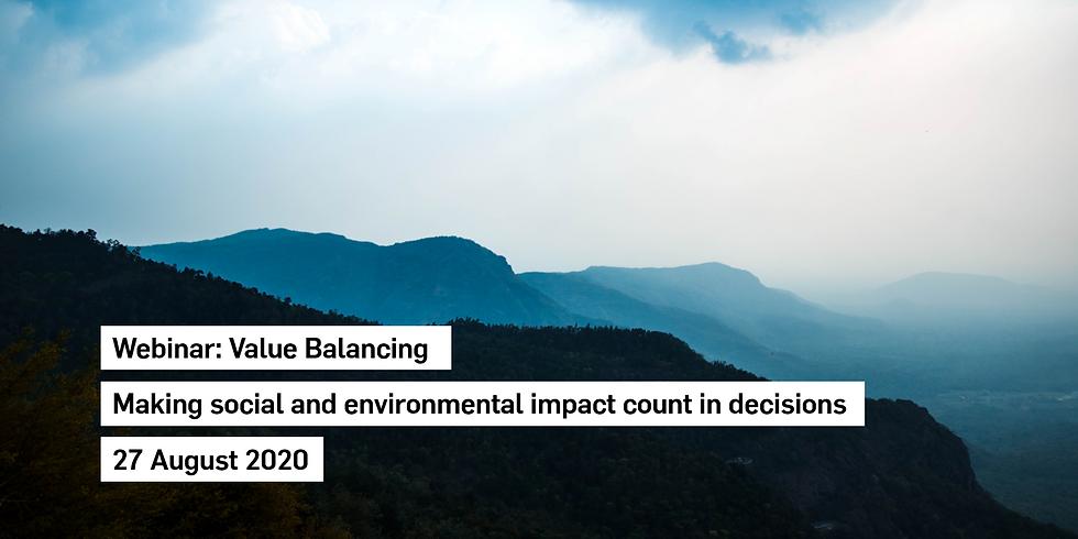 Webinar: Value-Balancing - Making social and environmental impact count in decisions