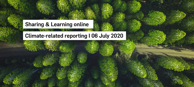 Sharing & Learning online: Climate-related reporting