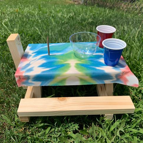 TIE-DYE Squirrel Picnic Table