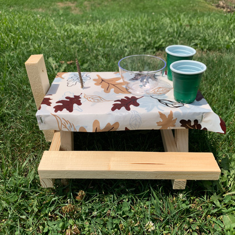 Fall Leaves Squirrel Picnic Table