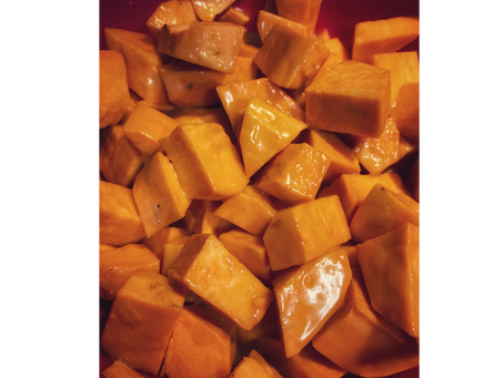 Maple-Almond Sweet Potatoes