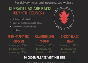 Menu for July 10th