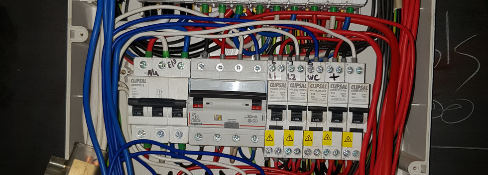 This is the insides of the same switchboard