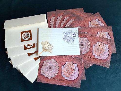 Letter writing set - Rose & Gerbera. (レターセット)