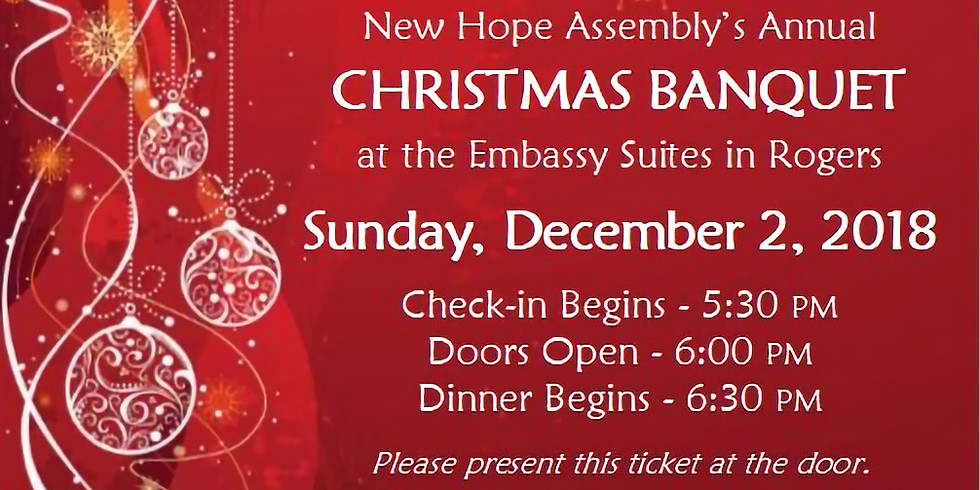 Christmas Dinner at The Embassy Suites