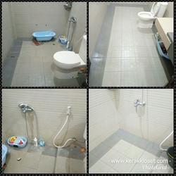 cara membersihkan kamar mandi berkerak