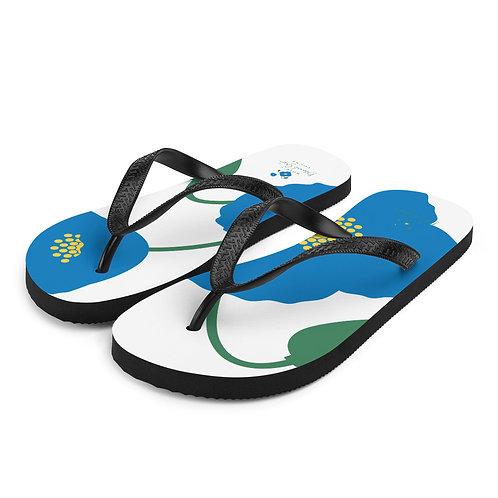 Blue Poppy Flip-Flops