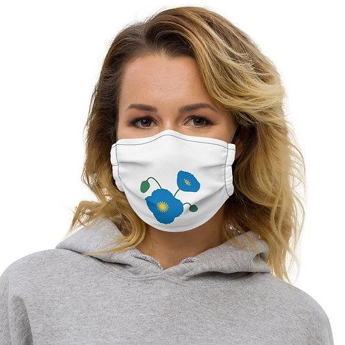 Blue Poppy Flower Premium Face Mask