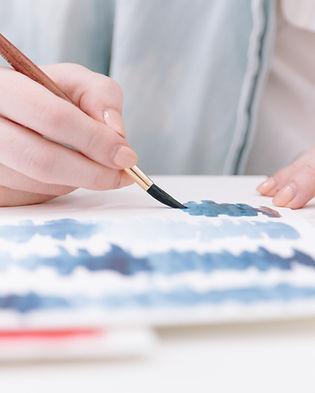 A pintura com aquarela