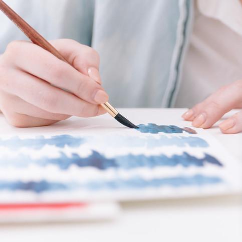 La pintura con acuarela
