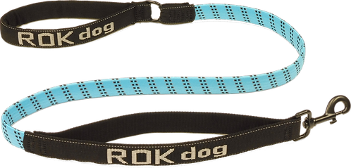 ROK Dog Reflective 3-in-1 Stretch Lead, Blue/Black