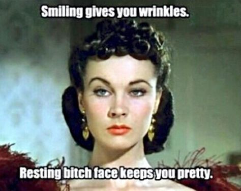 Botox, acting lesson, Gone with the Wind, meme