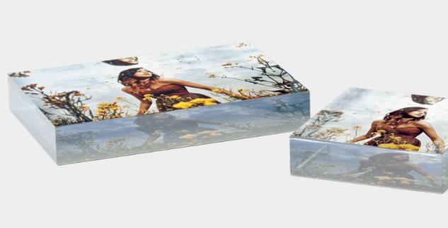 Acrylic Block Metallic