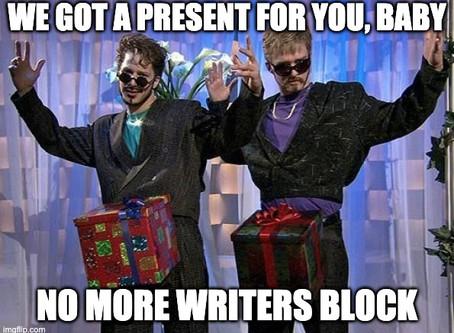 No Writer's Block Here, Baby