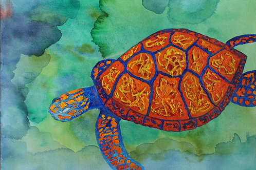 'Lone Turtle in the Deep'