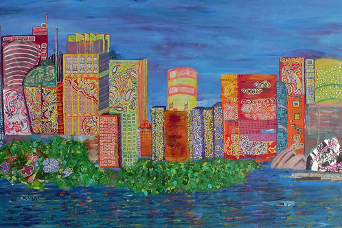 'Collage Sydney Cityscape'
