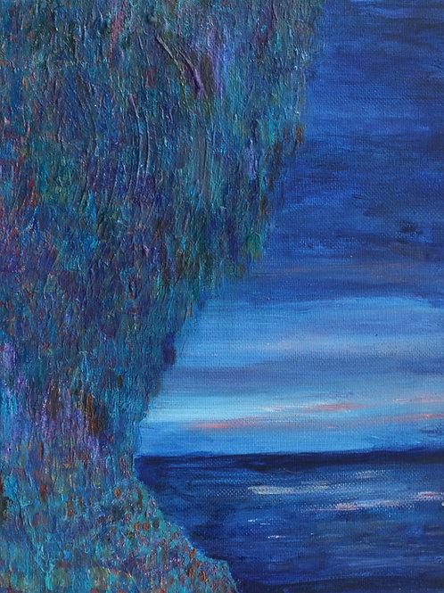 'Sunset Over Cliffs'