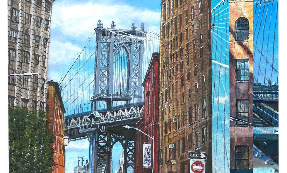 Set of 4 Brooklyn Bridge Prints