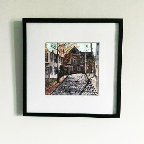 Framed Church Ave Print