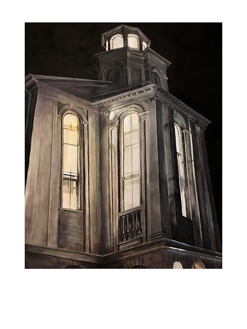 Ptown Library Nightscape Print