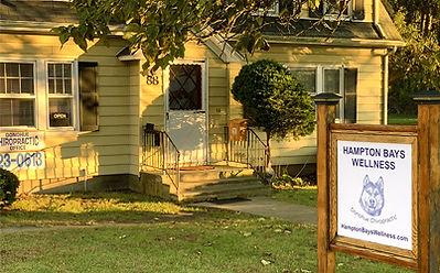 Hampton Bays Wellness Office Outside Chiropractor Spine Care Health Wellness