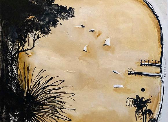 SC0106. Study for Lavender Bay, ode to Brett Whiteley