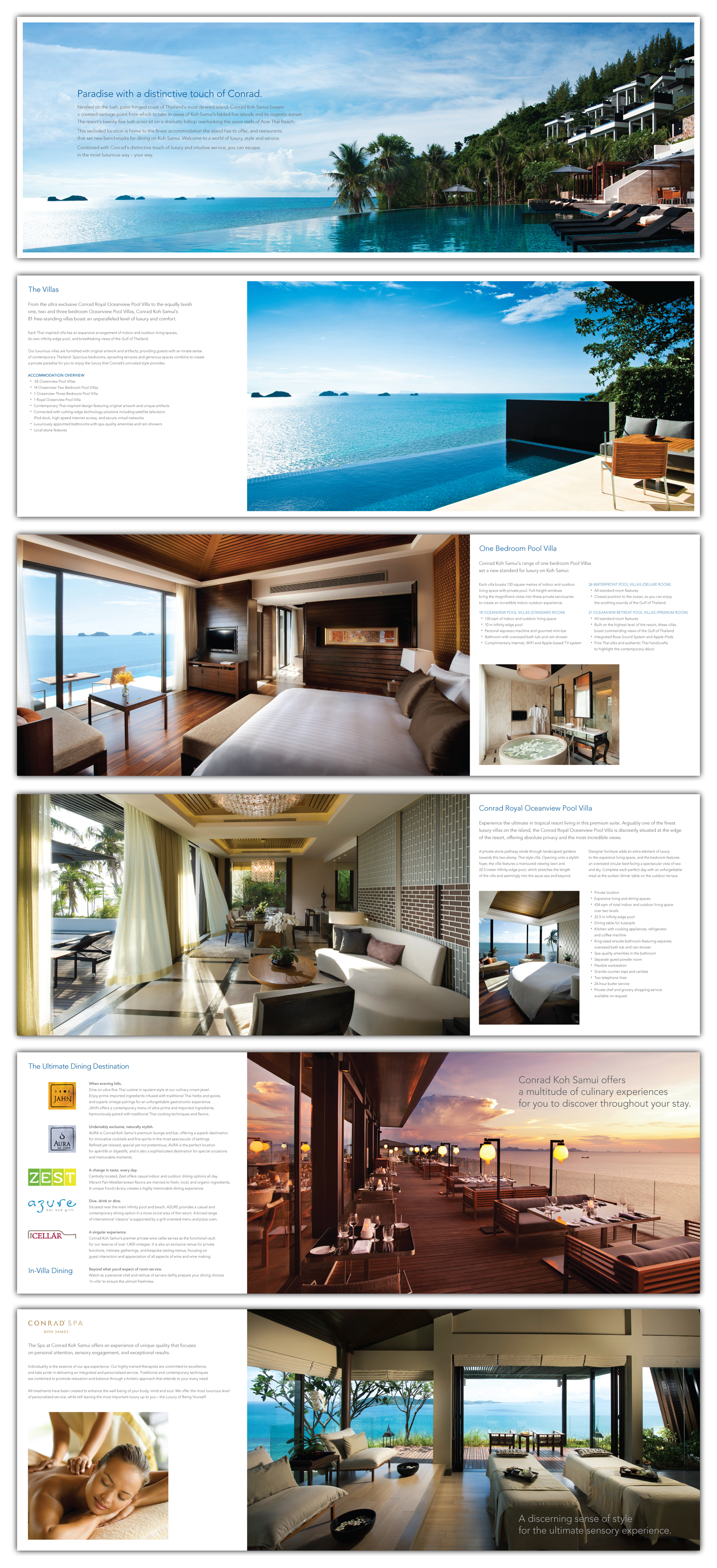 RESORT BROCHURE PAGES