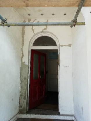Front door alcove.