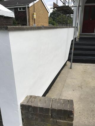 Full render renewal along main wall.