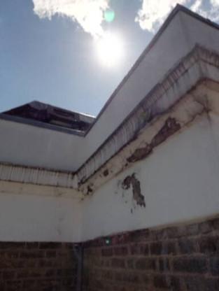 Front facade repairs.