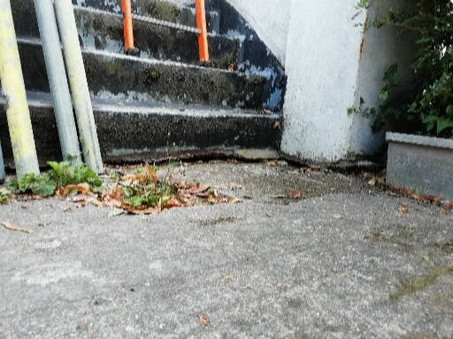 External front steps.