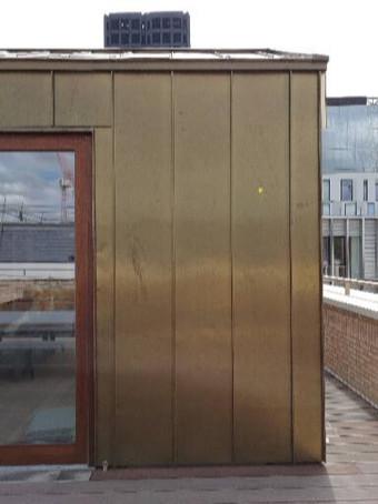 External copper cladding facade.
