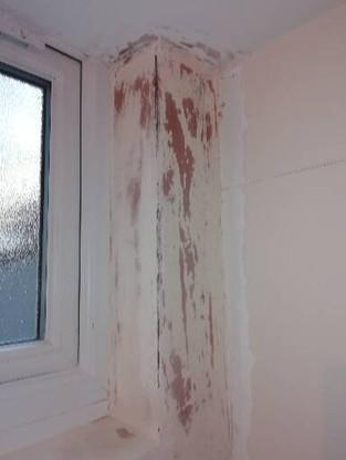 Br2 corner wall mould preparations