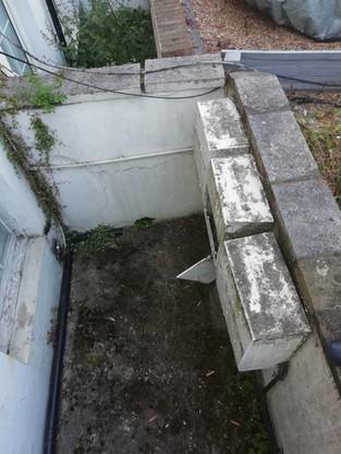External basement areas to make good.