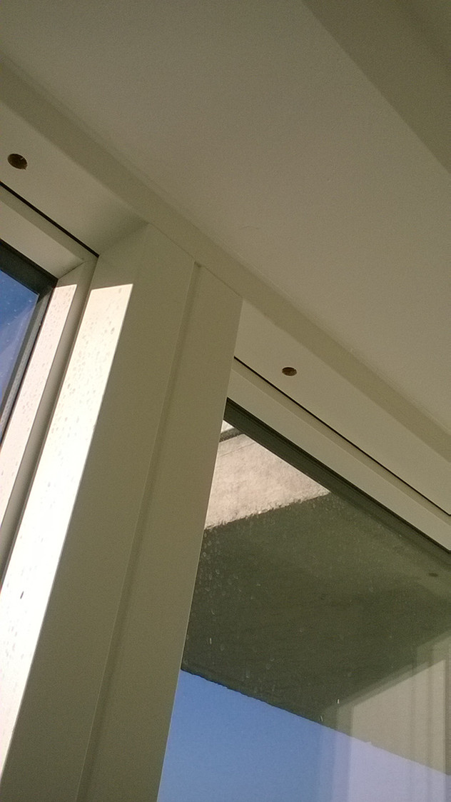 Exceptional finish to frame and wall junction details.