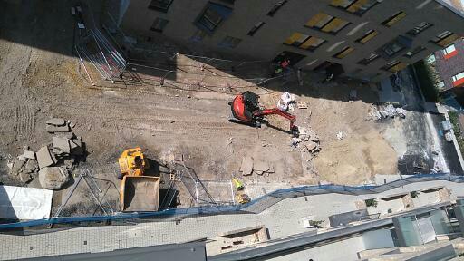 Groundwork sub structure preparation for car park.