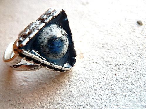 K2アズライト 三角のリング ナチュラルスタイルアクセサリー