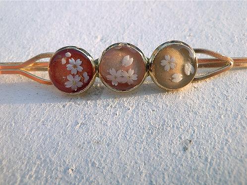 爛漫*桜の三つ丸ヘアピンC~三色・其の弐