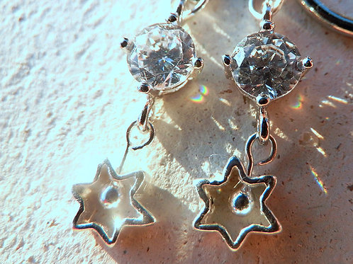 キュービックジルコニア*星のイヤリング