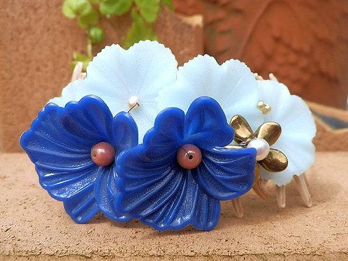 花盛りバングル~ブルー