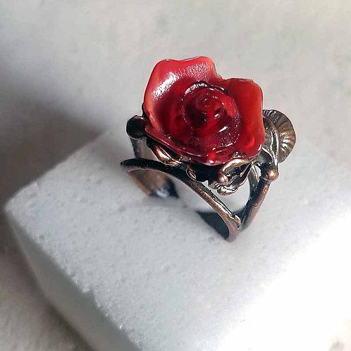 薔薇のリング~レッドマーブル
