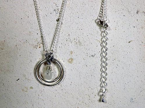 ムーンストーンネックレス *銀のリングと月の雫