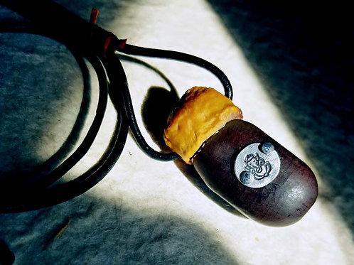 お豆とガネーシャのペンダント~メンガボダイジュ