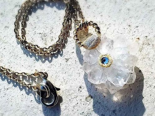 花型水晶クラスタープチネックレス