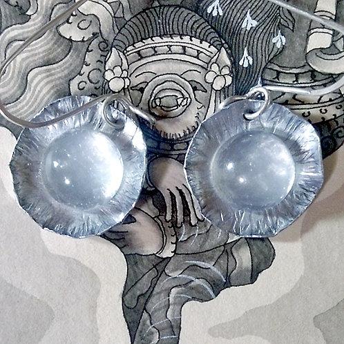 ムーンストーンセレモニア 月輪のピアス(E120)