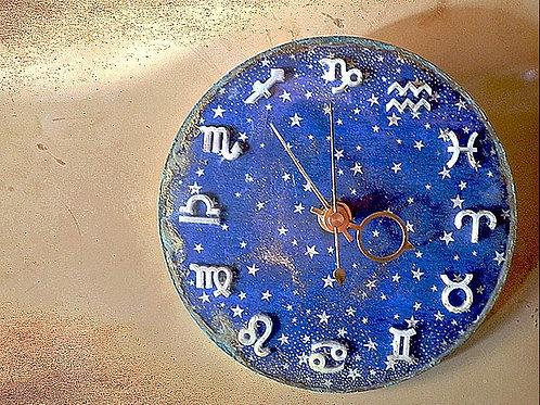 星座のプレート時計~デニムスカイ