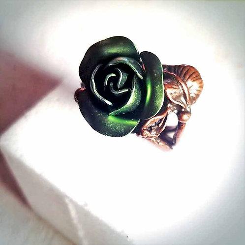 薔薇のリング~ダークグリーン