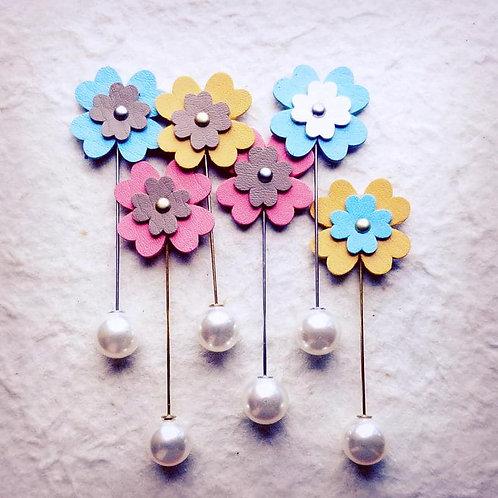 花のハットピン