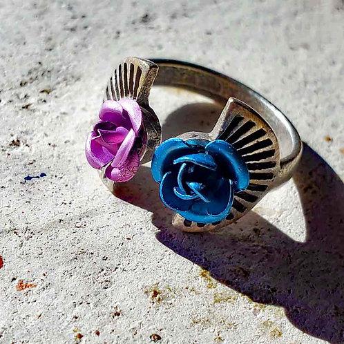 2色の薔薇のリング